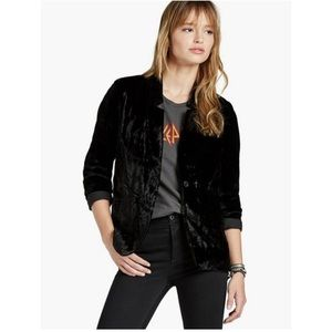 Lucky Brand Black Velvet Blazer